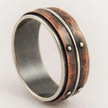 Unique mens wedding ring   men engagement ring,silver