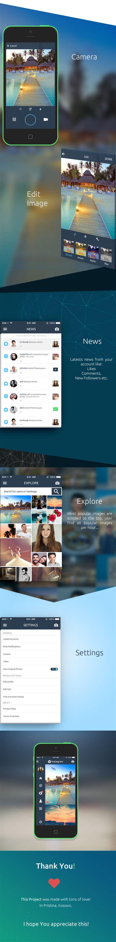 design instagram info un superbe concept de redesign pour le r 233 seau social