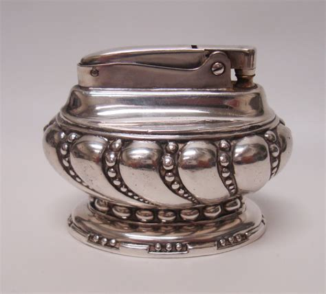 Lighter Mobil Crown Silver ronson quot crown quot silver plated vintage table lighter ebay