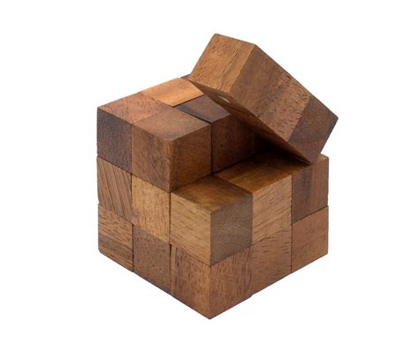 woodworking puzzle snake cube puzzle or serpent cube wooden puzzle