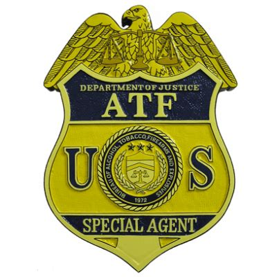 tobacco atf atf tobacco firearms badge plaque