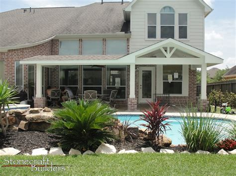 Outdoor Covered Patio Builders in Houston   Stonecraft