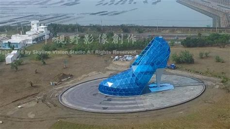 taiwan church shaped like a shoe high heel shaped church for female worshippers in taiwan