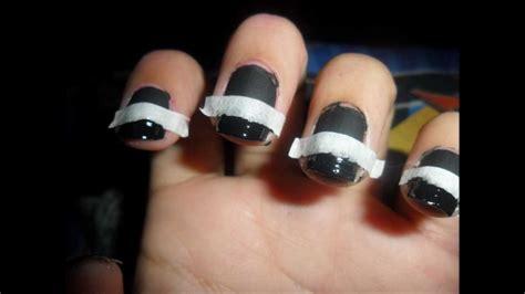 imagenes de uñas blancas con negro manicura francesa negra mate y brillante youtube