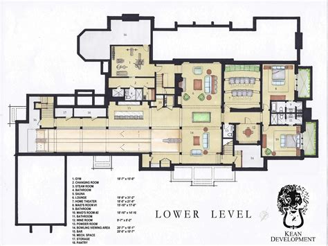 bowling alley floor plan luxury house plans with bowling alley