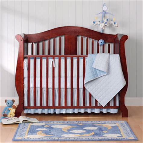 Blue And Purple Crib Bedding Family Of 3 2 Names Nursery