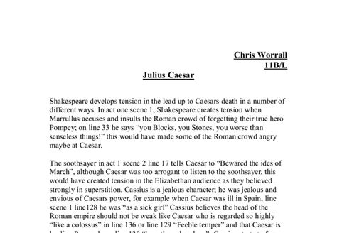 julius caesar research paper essay tragedy julius caesar