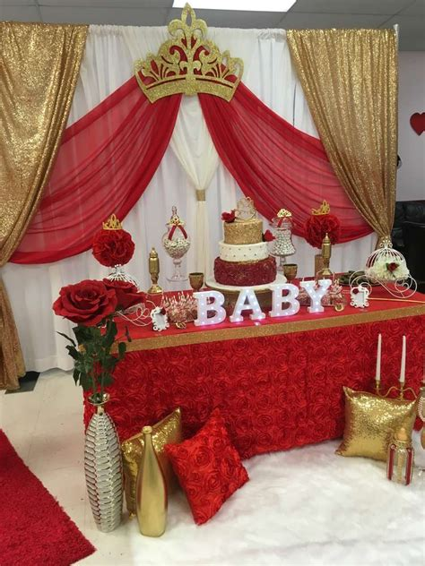 royal rose baby shower party ideas photo    catch