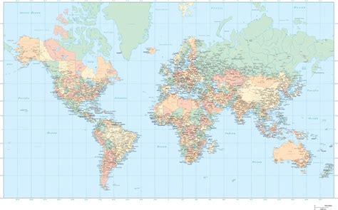 flat map   world vector  vector  adobe