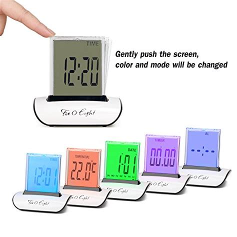 Small Digital Desk Clock Clocks Five0eight Digital Alarm Clock Small Table Desk Clock With 3 3 Lcd And Ebay