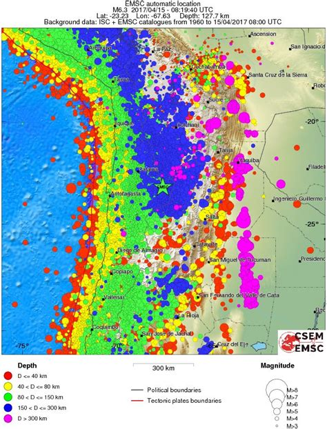 earthquake depth strong m6 2 earthquake hits chile at intermediate depth