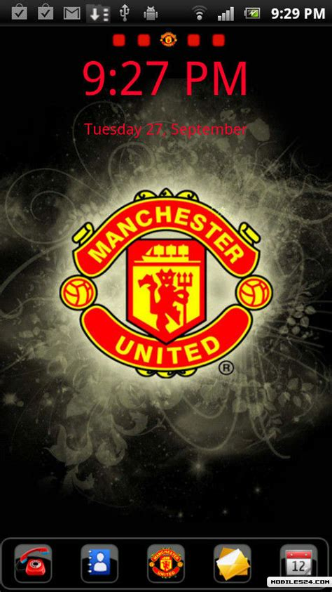 manchester united themes for whatsapp man utd go launcher theme free android theme download