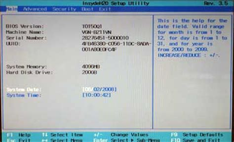 reset bios vaio vpc cw1s1e r geen advanced tabblad in bios sony