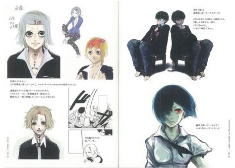 tokyo ghoul illustrations zakki books what is the hair color of touka tokyoghoul
