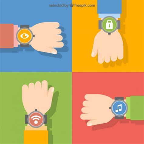 imagenes de inteligente animado armbanduhr symbole download der kostenlosen vektor