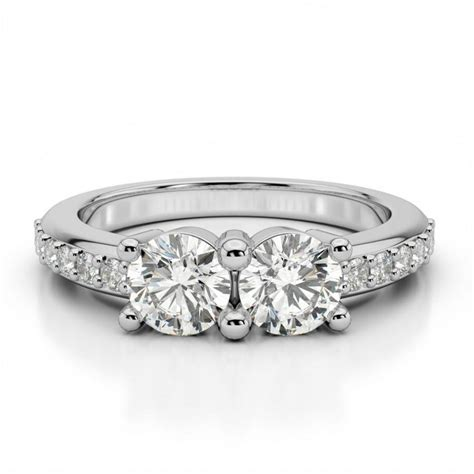 moissanite two engagement ring promise or