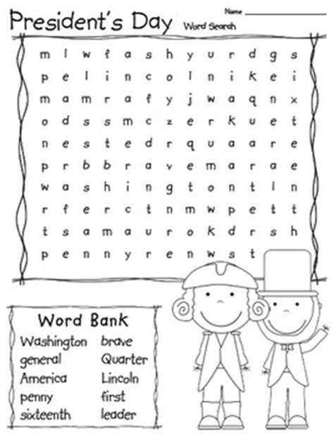 printable word search presidents day president s day word search word search activities and