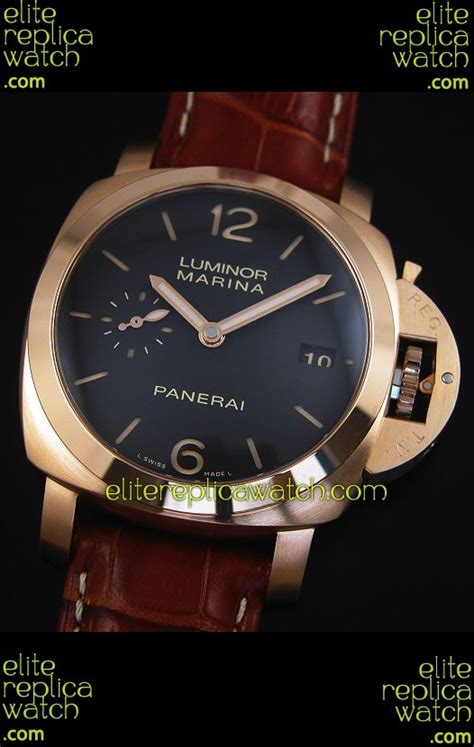Replika Panerai Luminor Marina Pam 393 Gold elitecom2016 2099 panerai luminor marina pam393 42mm swiss gold replica