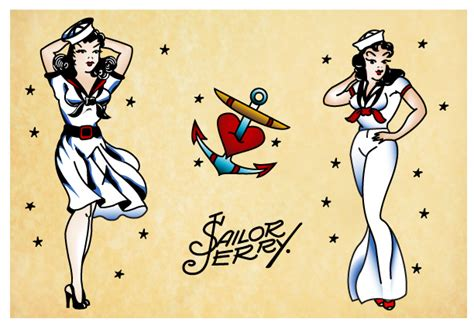 sailor jerry girls by chelbot on deviantart