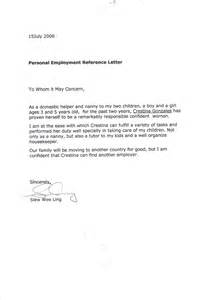 nanny reference template best photos of letter of employment proof