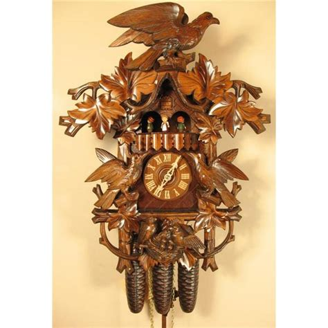 Gift Large Brown Cuckoo Bird by Romach Und Haas Hawk And Birds Cuckoo Clock With 8 Day