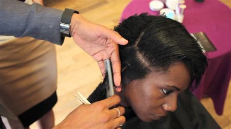 book cutting african american hair how to cut a layered bob on afro hair trailer youtube