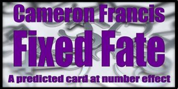 Fixed Fate Deck By Cameron Francis fixed fate by cameron francis review bicycle cards