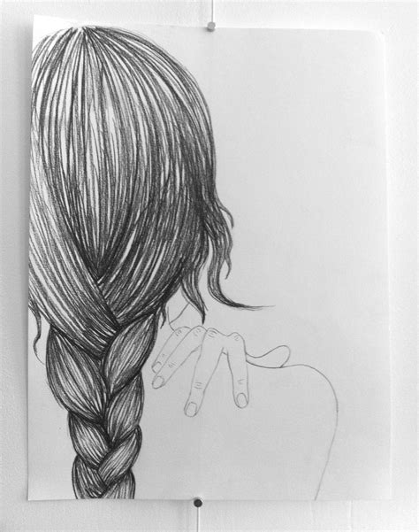 Drawing Hair by Braid Pencil And In Color Braid