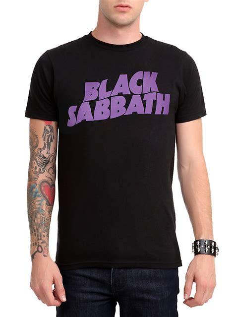 black sabbath purple logo t shirt topic