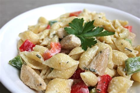 chicken pasta salad recipe strange brew chicken and pasta salad with creamy