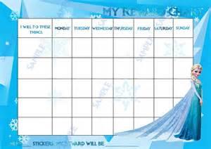 magnetic disney elsa frozen personal girls reward chart