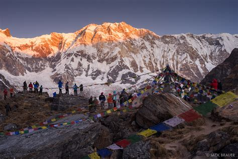 annapurna sunrise annapurna himal nepal mountain