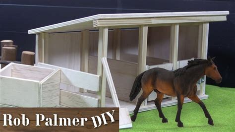 diy mini wooden horse stable toy rob palmer diy youtube