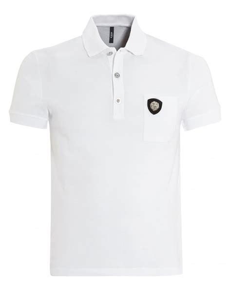 Bordir Polo Shirt versus versace mens polo chest pocket white