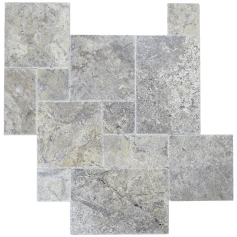 french pattern travertine tiles silver brushed chiseled french pattern travertine tiles