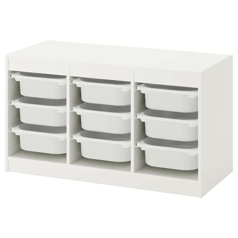 Trofast Storage Combination With Boxes White White | trofast storage combination with boxes white white