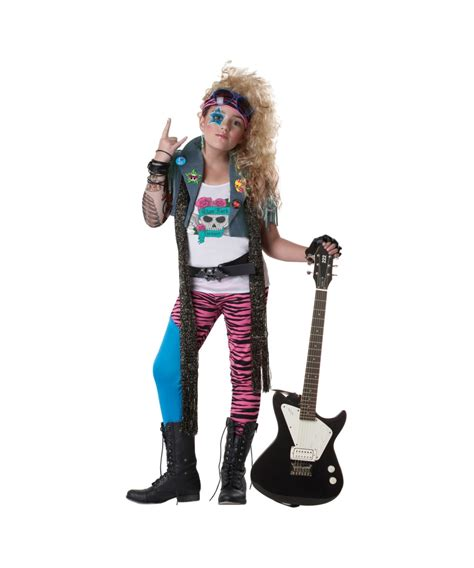 Glam Rock Product by 80s Glam Rocker Costume 1980s Kid Costumes