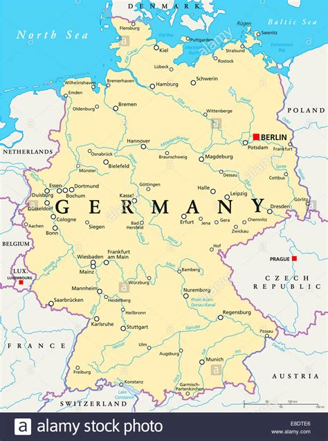map of germany showing berlin germany political map with capital berlin national