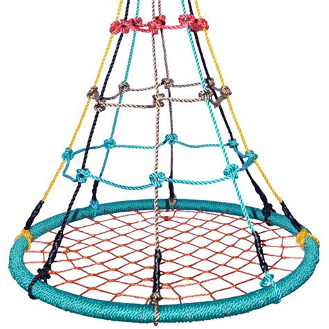 spider web swing seat 100cm multi colour round birds nest web swing free tree