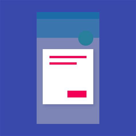 recyclerview layout animation dialogs components material design guidelines