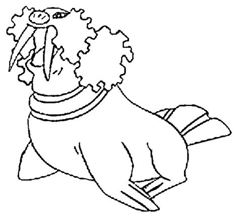 Pokemon Coloring Pages Walrein | coloring pages pokemon walrein drawings pokemon