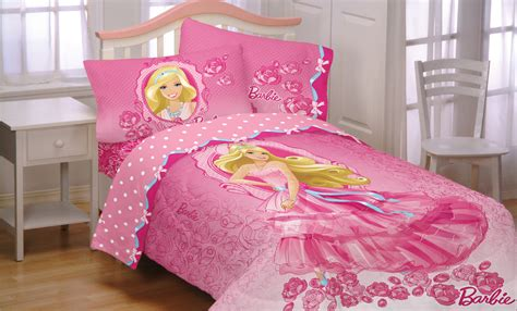 barbie bedding barbie twin bed comforter walking on roses bedding