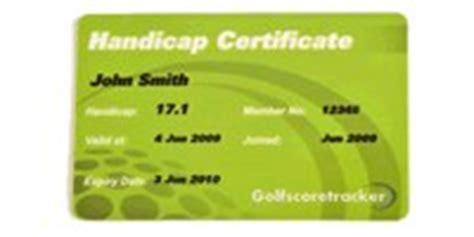 free golf handicap certificate template golf handicap golfshake