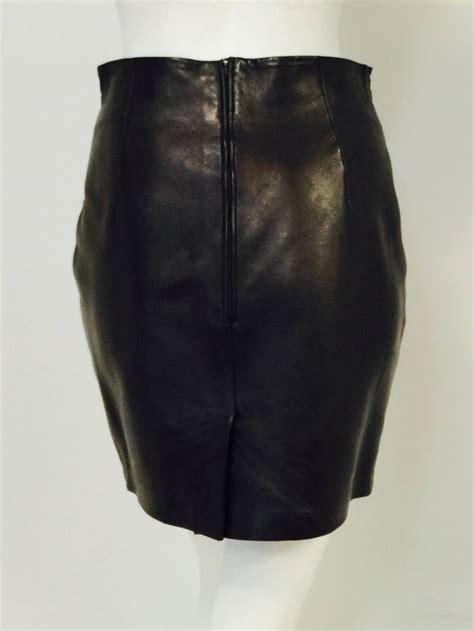 jitrois stretch leather skirt suit for sale at 1stdibs