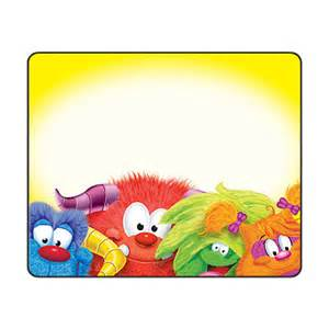 Desk Name Tag Name Label Stickers Cute Monster Furry Friends Name Or