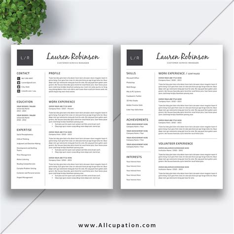 creative resume templates for mac creative resume template modern cv template word cover