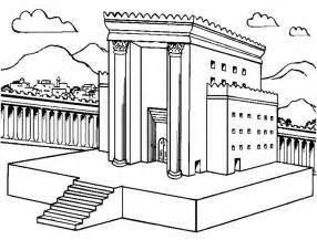 Gardening Crafts For Preschoolers - solomon s temple coloring page