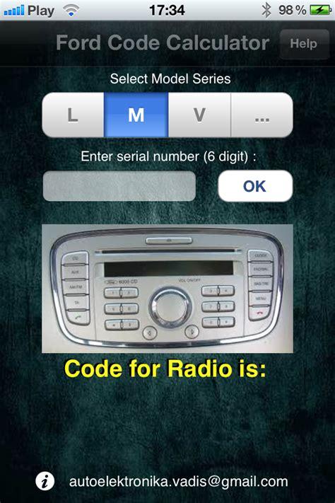 Ford Fiesta 06 Radio Code