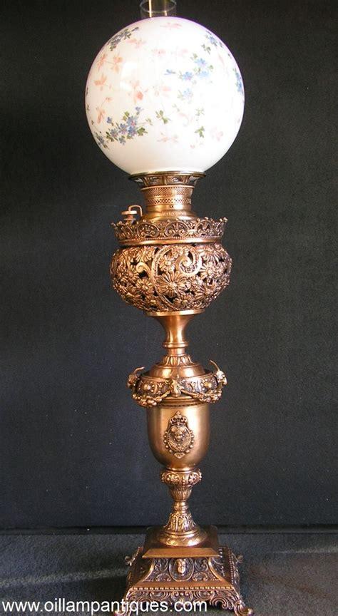 antique globe l shade florentine copper banquet oil l kerosene l globe