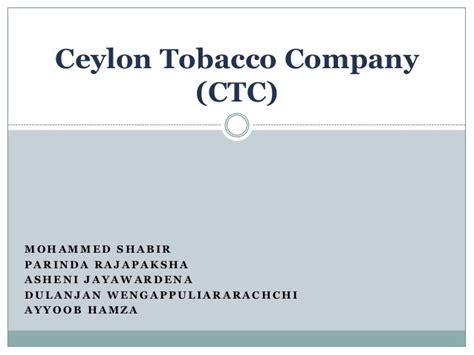 Ecu Mba Apply by Ceylon Tobacco Company Ctc